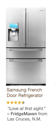 Samsung French Door Refrigerator. 'Love at first sight.' - FridgeMaven from Las Cruces, N.M.