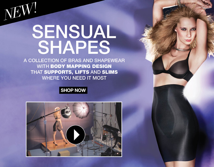 New! Sensual Shapes: A collection of Bras and Shapewear with Body Mapping Design that Supports, Lifts   and Slims Where You Need it Most