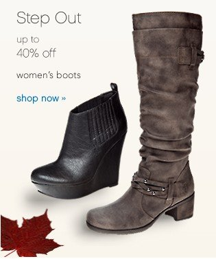 40% off Boots. Shop now.