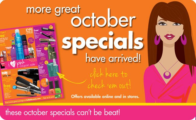more great october specials have arrived!