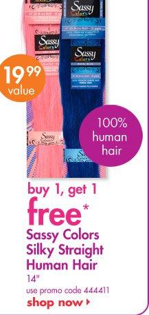 Sassy Colors Silky Straight Human Hair