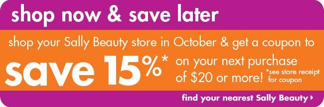 save 15%*