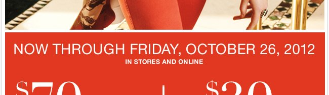 Use this coupon through Friday, October 26th and SAVE!