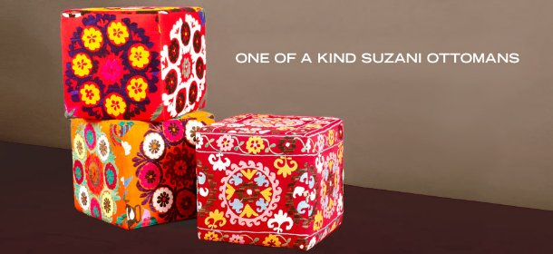 ONE OF A KIND SUZANI OTTOMANS, Event Ends October 27, 9:00 AM PT >