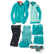 Learn more about our women's running apparel in tourmaline