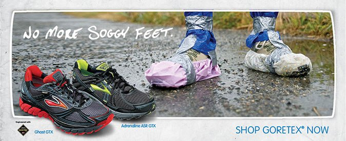 No more soggy feet with Brooks and GORE-TEX