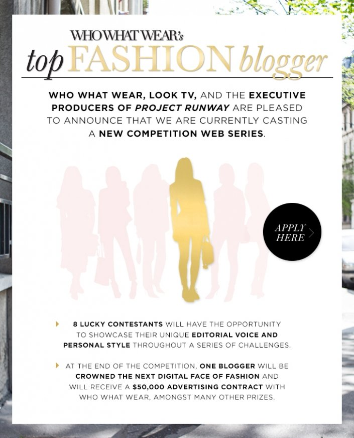 Now Casting: Who What Wear's Top Fashion Blogger