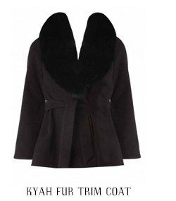 Kyah Fur Trim Coat