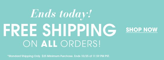 Ends Today - Free Shipping