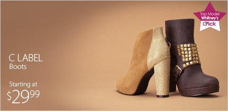 c label boots