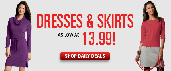 Limited time Daily Deals on dresses and skirts