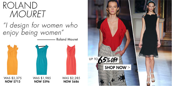 Roland Mouret at up to 65% off >