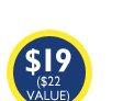 $19 ($22 Value)