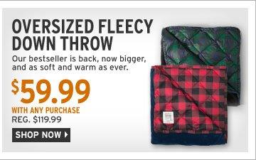 Oversized Fleecy Down Throw