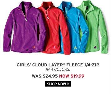 Girls' Cloud Layer® Fleece 1/4-Zip