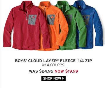 Boys' Cloud Layer® Fleece 1/4-Zip