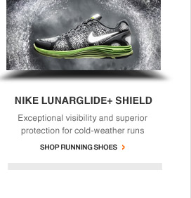 NIKE LUNARGLIDE+ SHIELD | Exceptional visibility and superior protection for cold-weather runs | Shop Running Shoes