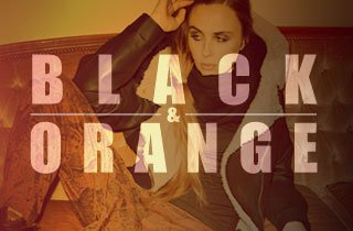 Black and Orange