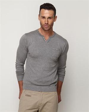 Fresh Brand Split-Neck Sweater $35