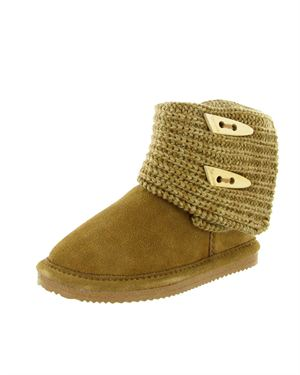 Bear Paw Cable Knit Sheepskin Boots $39