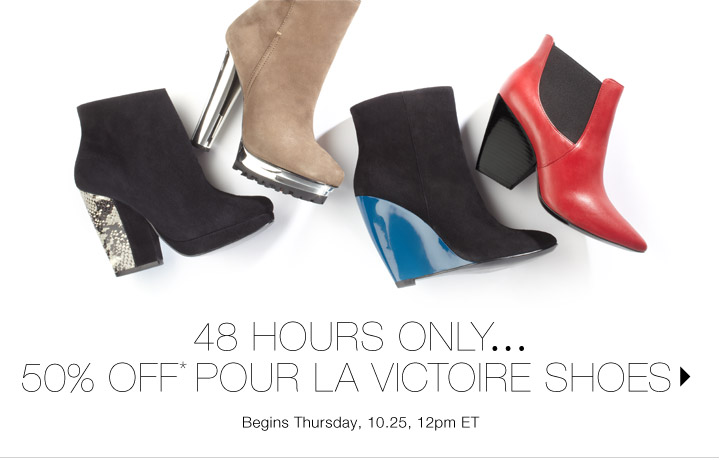 50% Off* Pour La Victoire Shoes...Shop now