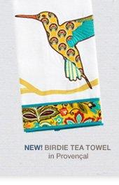 NEW! Birdie Tea Towel in Provencal