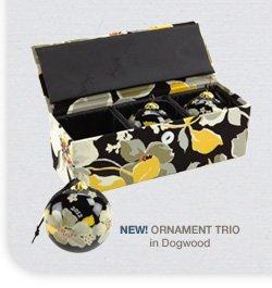 NEW! Ornament Trio in Dogwood