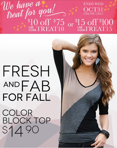 Fresh and Fab for Fall + Shop the $7 Scarf Sale + We have a treat for you! $10 off $75 or $15 off $100 until 10/31