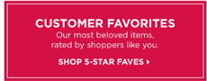 SHOP 5 STAR FAVES »