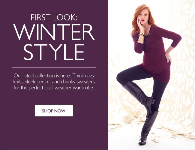 First Look: Winter Styles