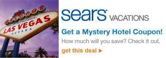 Sears® Vacations - Get a Mystery Hotel Coupon!  How much will you save? Check it out. | get this deal