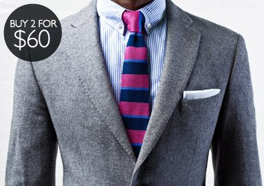 Shop Square Knit Ties: New Fall Colors