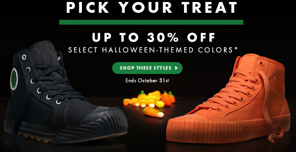 Pick Your Treat - Up to 30% Off Select Halloween Themed Colors