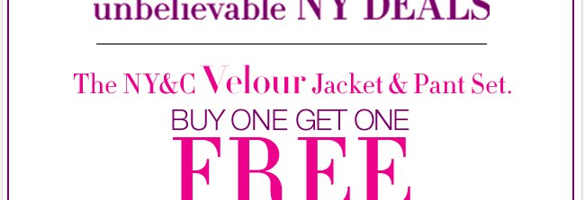 The NY Deal you don't want to miss!Shop NOW!