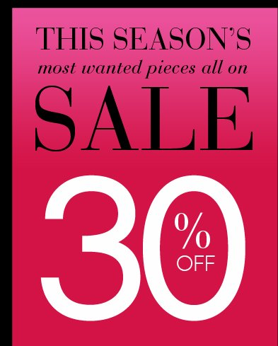 Shop 30% OFF Sweaters, Jackets and Jeans!