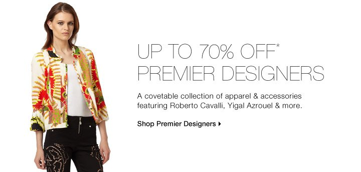 Up to 70% Off* Premier Designers