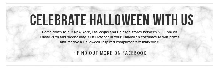 Celebrate Halloween With Us - Find out more on Facebook