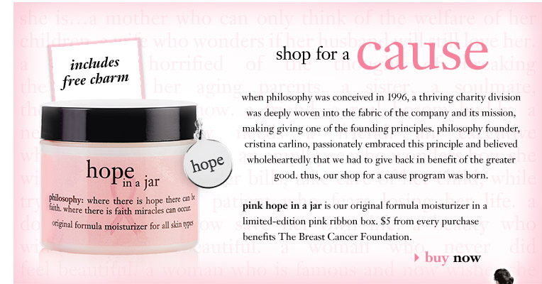 shop for a cause...