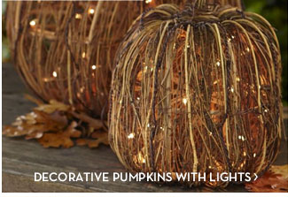 DECORATIVE PUMPKINS WITH LIGHTS