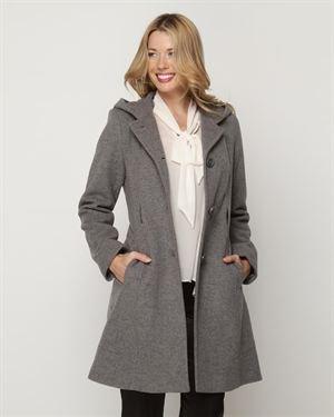 Anne Klein Tied-Waist Wool Blend Coat $79