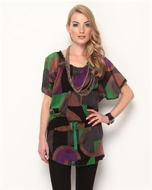M Missoni Sheer Printed Blouse - Made In Italy $239