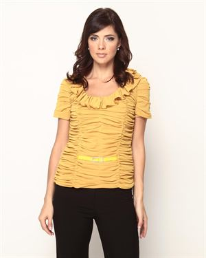 Anna Kevin Ruffled And Gathered Blouse $35