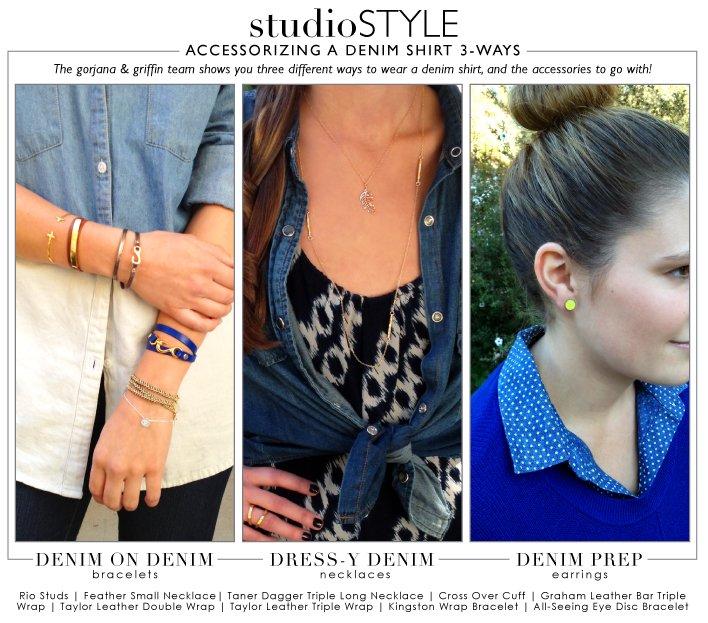 Studio Style | Denim Shirt 3-Ways
