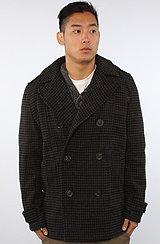 The Wilson Coat in Grey Blue Windowpane