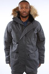 The Canvas N3B Snorkel Parka in Charcoal