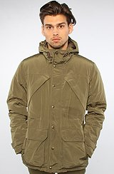 The Down Mountain Parka in Night Olive