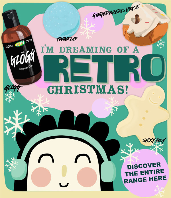 Discover the entire range of LUSH Retro Christmas products here!
