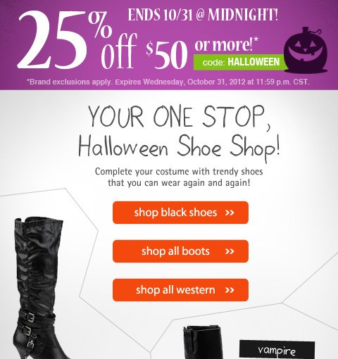 Bewitching shoes for Halloween!