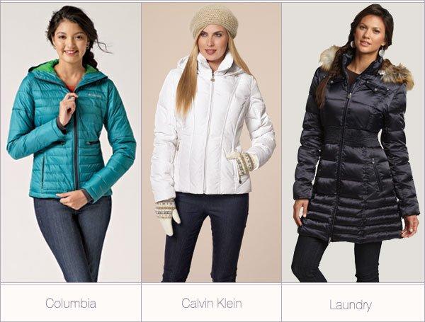 Columbia. Calvin Klein. Laundry