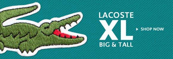 LACOSTE XL BIG & TALL